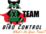 X Team Bird Control Logo